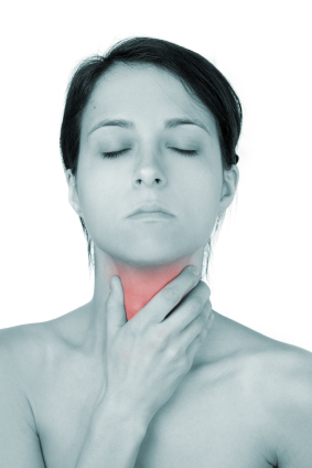 woman considers natural treatment for thyroid