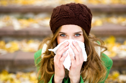 woman needs a natural cold and flu remedy